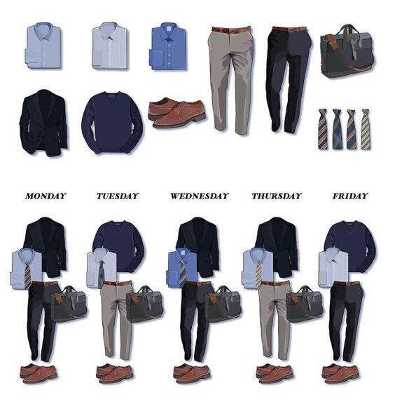 Капсульный гардероб для мужчин | Список вещей