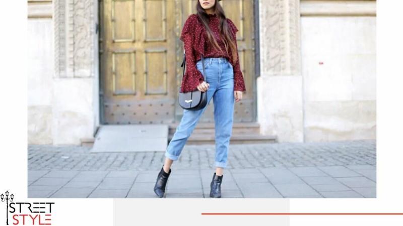 С чем носить джинсы мом в сезоне 2020-2021: Стильные образы уличной моды
