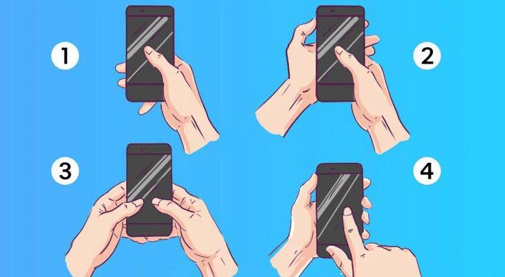 Тест: как вы сейчас держите телефон, многое говорит о вашем характере