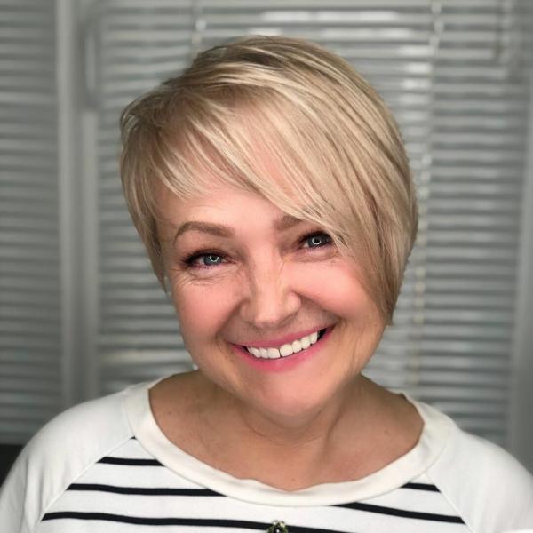20 стрижек на ножке на короткие волосы 2020 для женщин после 40 лет