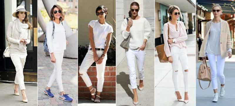 Как носить белые джинсы этой весной. Топ-5 подсказок выглядеть стильно и модно