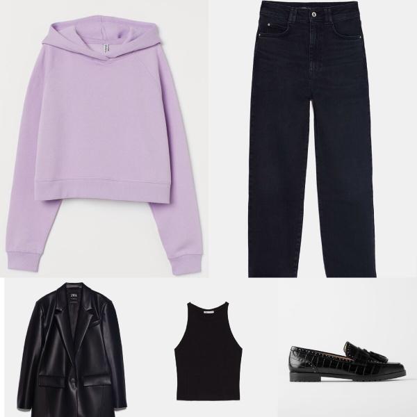 Носим толстовку каждый день и не повторяемся! 6 крутых образов из одежды «Zara», «Mango», «H&M»