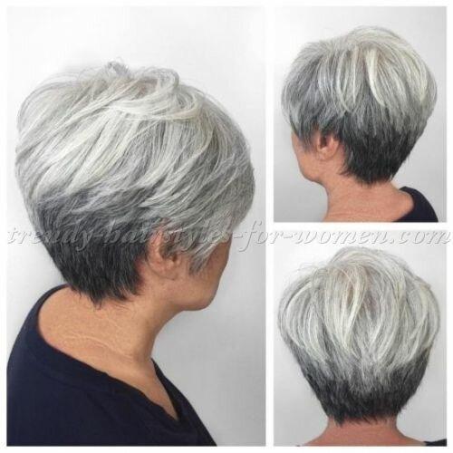 По совету парикмахера сделала омолаживающую стрижку. Ухаживать за ней не нужно. Расчесал и пошел (фото стрижки)