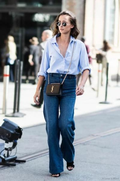 С чем комбинировать голубую рубашку, чтобы составить стильные образы?