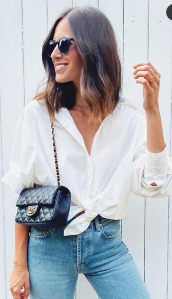 10-ки свежих образов с одной белой рубашкой