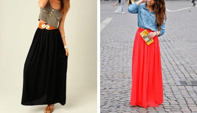 Длинные юбки на лето 2020 - С чем их носить?