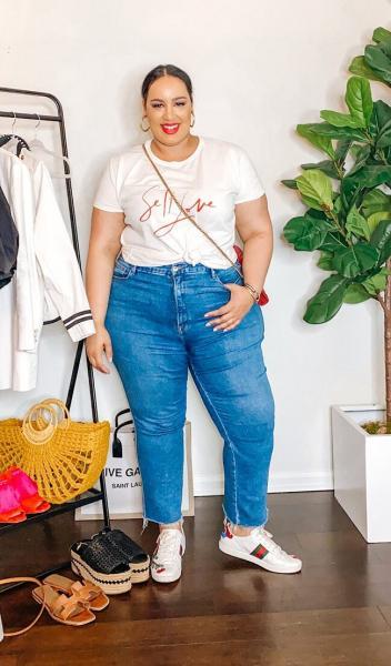Другие три способа стилизировать укороченные джинсы. Еще интересней!