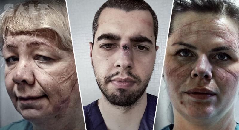 «Красота — в мужестве»: Dove показал ролик с лицами медработников после рабочих смен