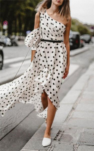 Платья в горошек, которые хочется надеть. Вдохновляющая подборка