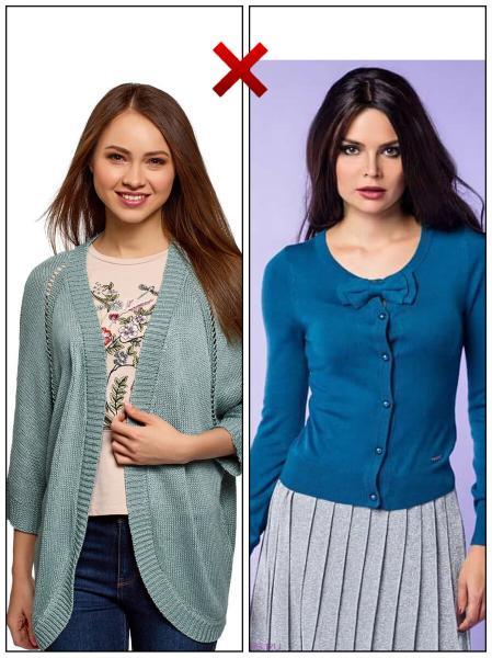 Устаревший/немодный верх (рубашки, кардиганы, блузки и т.д). Варианты замены.