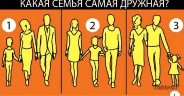 Выберите ту семью, которую вы считаете самой дружной