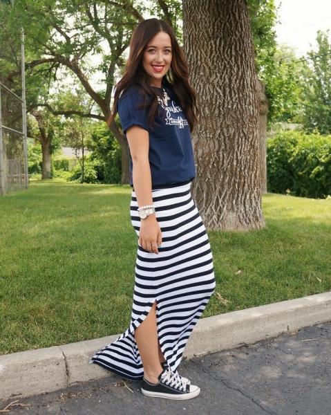 Длинная юбка: как носить макси не только летом на пляж или возвращаем юбку до пят в повседневные образы