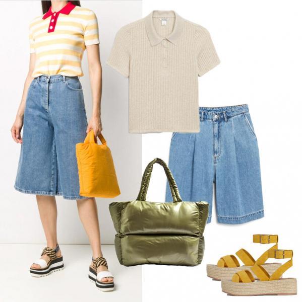 Джинсовые шорты: составляем модный и небанальный образ. Стилистические хитрости в действии
