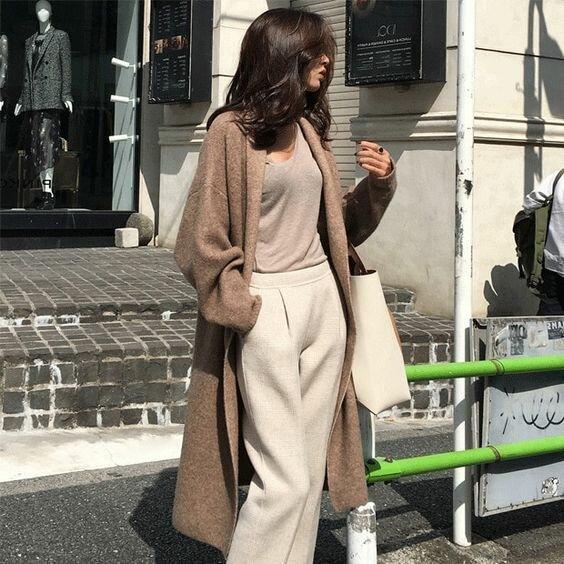 Как носить кардиган в стиле casual этой осенью