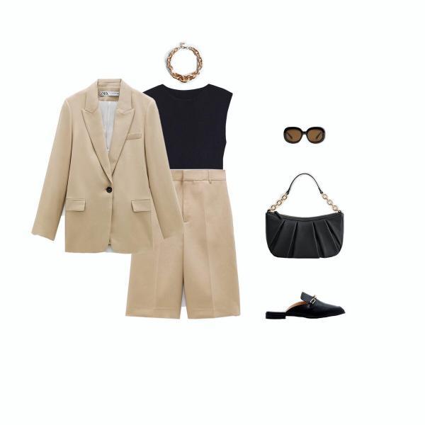 """Один костюм - пять образов из одежды """"Zara"""", """"Mango"""", """"HM"""""""