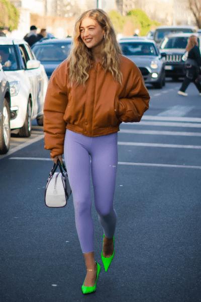 Осень 2020: леггинсы как часть ультрамодного образа