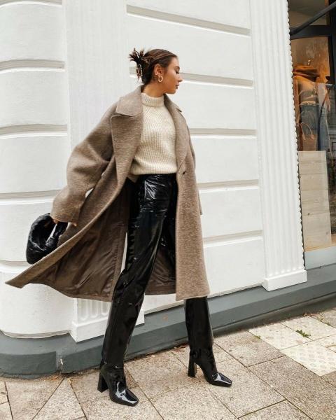 12 стильных образов для холодного января 2021