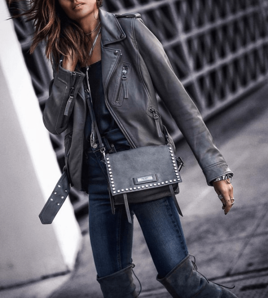 Куртка-косуха - тренд вне времени: составляем стильные образы на каждый день в сезоне 2021-2022