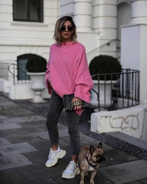 C чем носить яркий джемпер, свитер и кофту: 15 безупречных комбинаций на все случаи