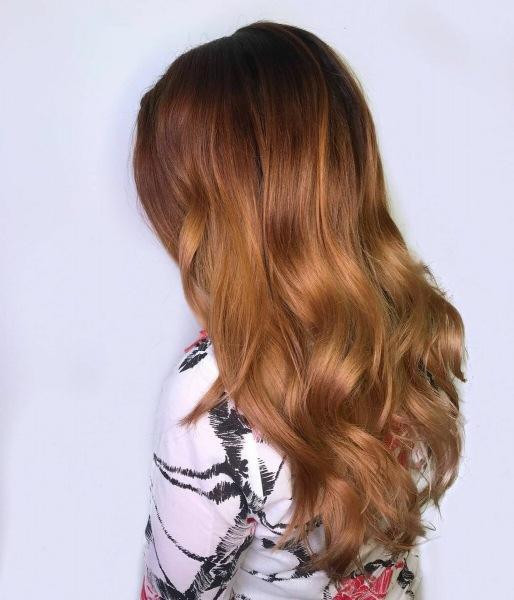 Цвет осени: 17 вариантов цвета медно-коричневых волос
