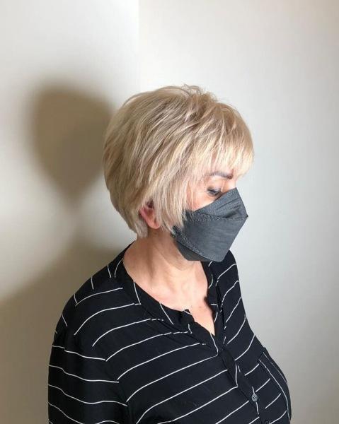 Модные стрижки с челкой для женщин после 50 лет: 17 шикарных идей