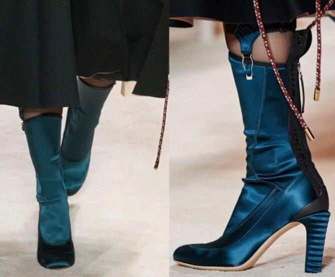Осенняя обувь с модных показов 2021 года - модные тенденций, бренды, принты и цвета. Фото новинок стильных моделей женских сапог
