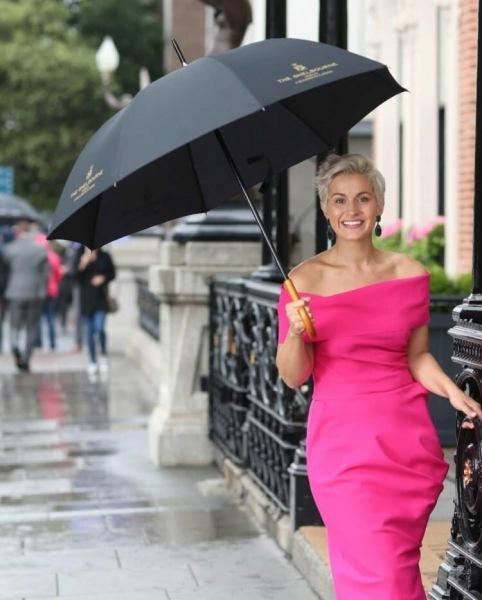 Стильные новинки осени! Кожаный зонт. Тренд сезонов осень 2021-весна 2022
